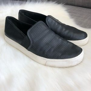 VINCE Berlin Perforated leather slip on sneakers